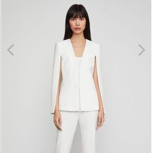 BCBG Off-White Upas Cape Jacket and pants